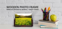 Xech Wooden Photo Frame Wireless Speaker & Mobile / Tablet Stand