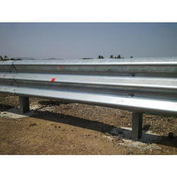 Three Beam Single Sided MS Crash Barrier