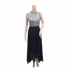 Ladies Designer Printed Gown