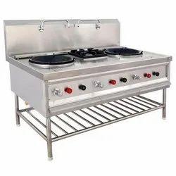 3 Stainless Steel Cooking Range