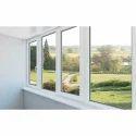 White Upvc Glass Window