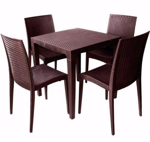 Brown Plastic Dining Table Set