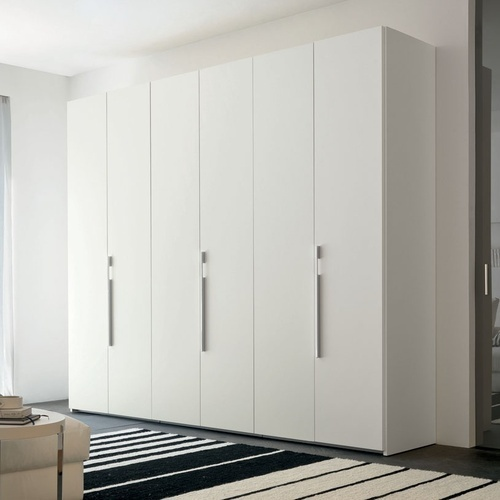 Standard White Wooden Wardrobe