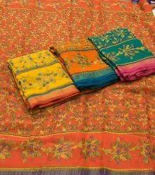 Casual Wear Pure chiffon brasso sarees
