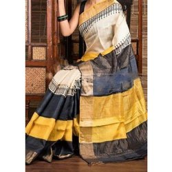 6.3 m (with blouse piece) Laxmi Printing Party Wear Handloom Silk Saree