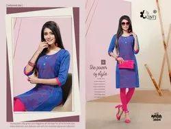 Manya 36 By Kinti Handloom Cotton Straight Kurti Designs