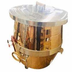 Round SS Top Brass  Tandoor