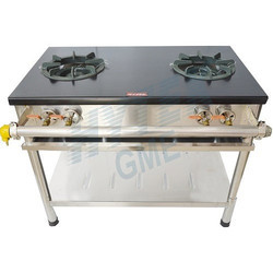 Commercial Double Burner Gas Stove Iron Top Plate