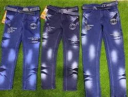 Knitted Cotton Kids Jeans
