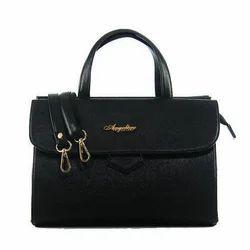 Black Rexine Executive Hand Bag