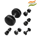 Round Black Iron Bouncer Dumbbell, 15 Lbs., For Gym