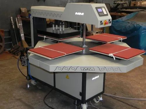 Automatic Heat Transfer Four Bed Machine
