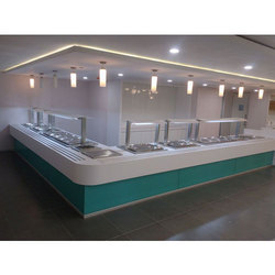 Acrylic and Stainless Steel Hotel Serving Counter