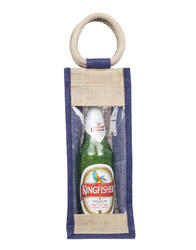 Jute Bottle Bags, Size: 13Hx5Wx4D Inches
