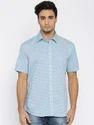 Sky Blue Half Sleeve Shirts For Men