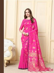 Exclusive Festive Wear  Cotton Silk Weaving Saree ,0.5mtr