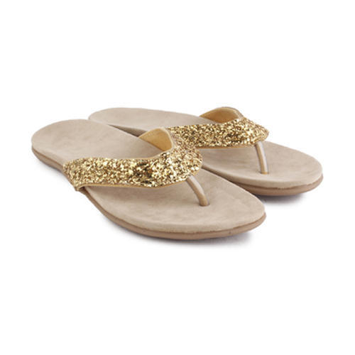 e57b03997 Golden Women Fancy Shining Flat Footwear