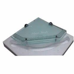 Corner Toughened Glass Shelf