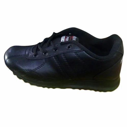 rexine Hitcolus Black School Shoes, Rs
