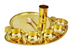 Brass Hammered Maharaja Style Full Moon Dinner Set