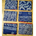 Ladies Khadi Silk Blue and White Printed Unstiched Suit