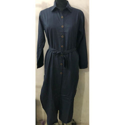 Casual Black Ladies Robe