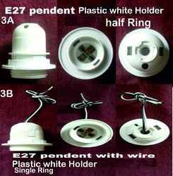 Plastic E27 White 3A,3B Pendant Holder