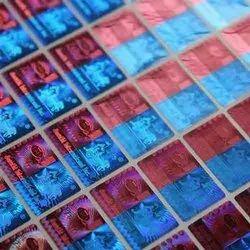 Multicolor Holographic Paper Label, Size: 150mm X 150mm