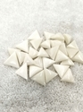 Triangle White Moonga Gemstone