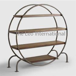 216caccd7999 TLI STANDARD iron furniture decorative round shape rack