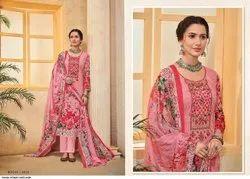Embroidered Cotton Pakistani Suits, Machine wash
