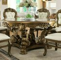 Royal Wooden Carved Dining Table Set