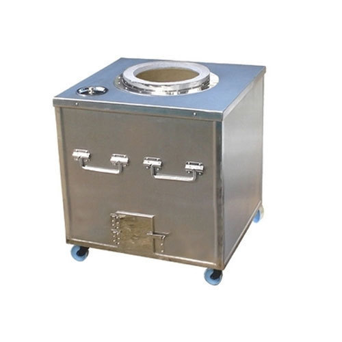Stainless Steel Square Tandoor, For Restaurant, Features: 24x24x34 Inch