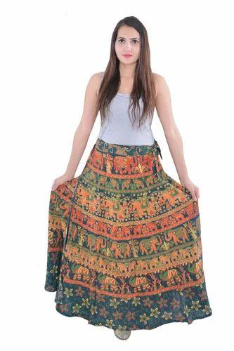 ee6cadc1a Indian Women Cotton Mandala Rapron Skirts, Rs 220 /piece   ID ...