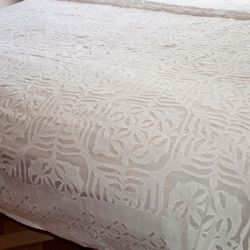 Applique Cut Work Bedspread