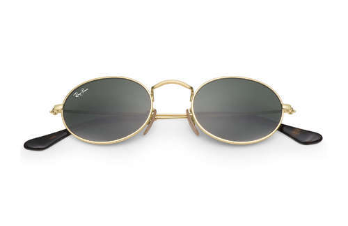 078343a2e5 Golden-Grey Metal And Glass Rayban Oval Shape Sunglass