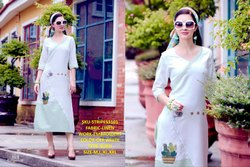 Rachna Linen Embroidery Work Stripes Catalog Kurti For Women