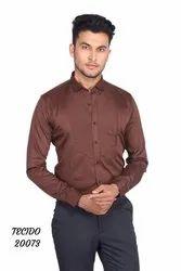 Tecido Cotton Satin Tuxedo Shirt