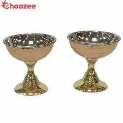 Choozee - Brass Ice Cream Cup (Set of 2)