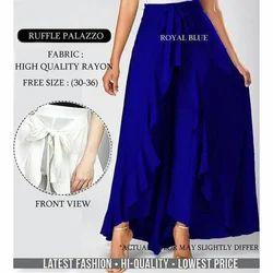 Ladies Ruffle Palazzo Pants