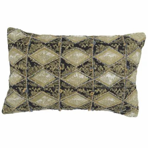 Green Rectangular Printed Embroidered Diamond Pattern Cotton Pillow Cover Rs 455 Piece Id 21772995033