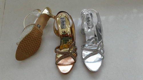 e811a5cd523 Ladies Fancy Heeled Slingback Sandals - Sindhi Footwear
