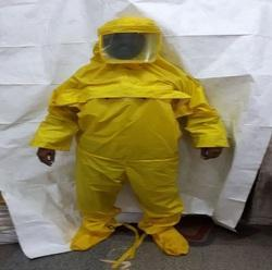 Yellow Chemical Safety Suits