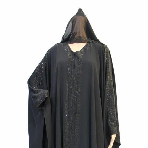 Jet Black Dubai Abaya