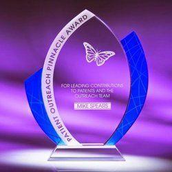 Printed Crystal Trophy