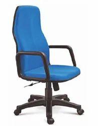 Blue Fabric Silver Arrow & High Back Chair, Warranty: 3 Year