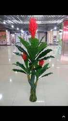 Valley of Flowers Orange Artificial Decorative Plant