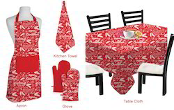 Red Printed Table Cloth