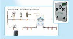 Hospital Oxygen Control Panel