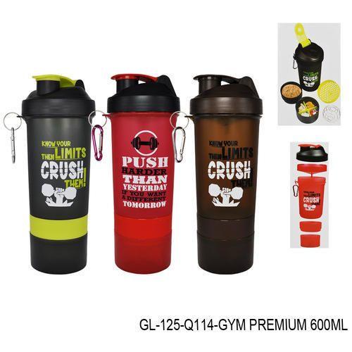 SKI Gym Shaker Bottle-GL-125, Capacity: 600ml